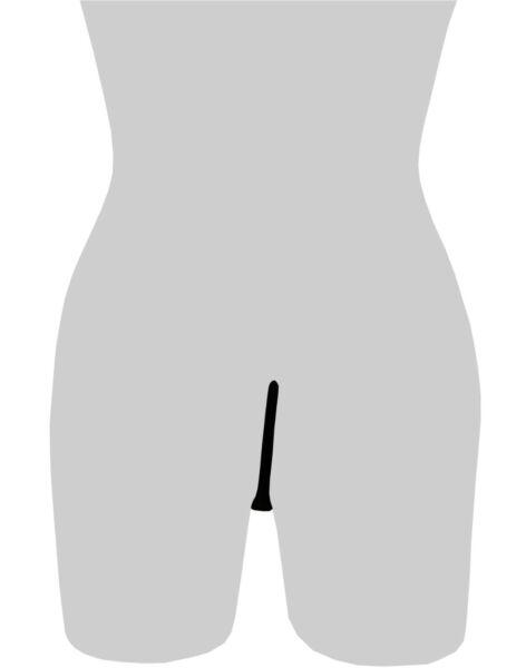 Damen Pailletten C-String Micro Thong Tanga Dessous Höschen Bikini S/M/L