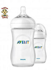 Avent Natural Feeding Bottle, New Design, 9 oz, 2 pack, BPA Free