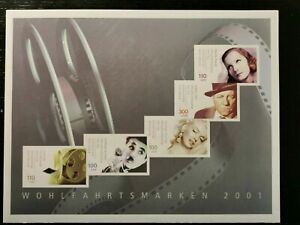 Germany 2001 Booklet 46 'Actors' Michel 2218C-2222C, dual denomination in MNH.