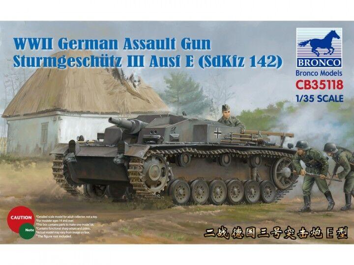 BRONCO 1/35 Sturmgeschutz Iii Ausf E- ( SdKfz 142) #cb35118