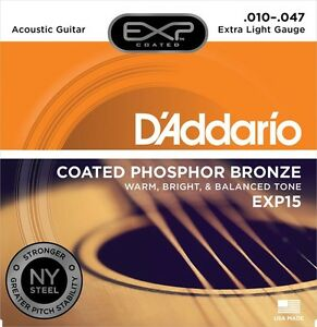3 Pack! d'addario Exp15 Ny Steel Coated Acoustic Guitar Strings Ships Free U.s Apparence EsthéTique