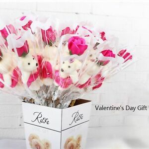 Saint-Valentin-Fete-des-Meres-Ours-Rose-Savon-Cartoon-Bouquet-Mariage