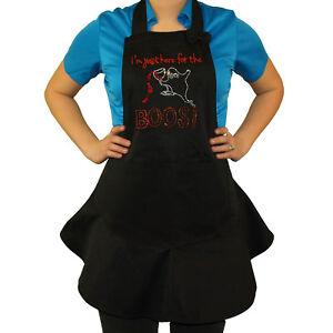 Ladies-Halloween-apron-Rockpoint-Ruffled-apron