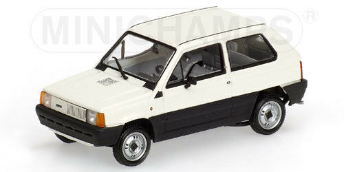 Fiat Panda 34 1980 White 1:43 Model MINICHAMPS