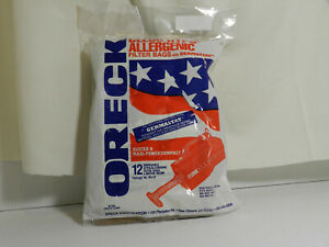 Oreck Buster B Charcoal Bags 12//PKG #O-PKBB12OF