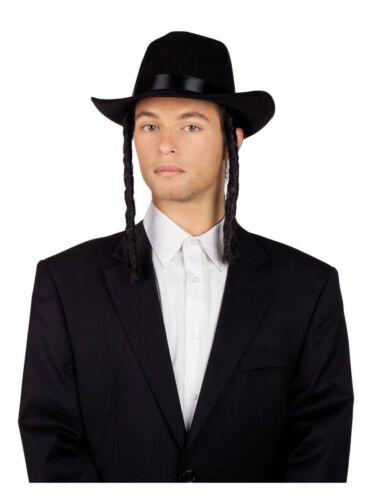 """Kostümhut /""""rabbino David/"""" con riccioli laterali accessori costume"""