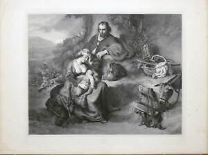 Flucht-nach-Agypten-Heilige-Familie-Bol-Grosse-Lithographie-Hanfstaengl-1835-52