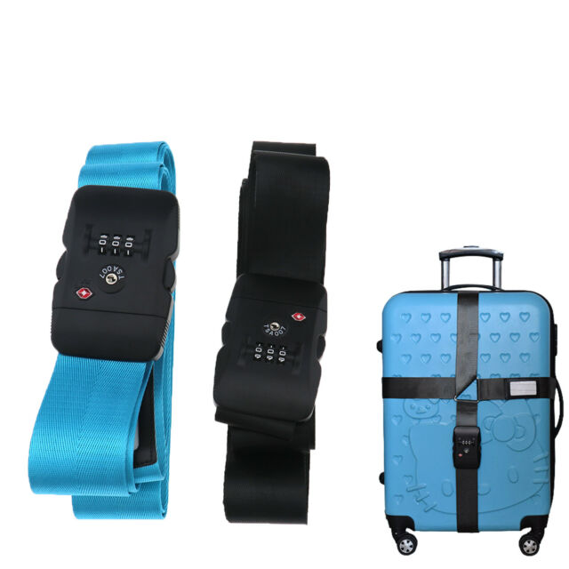 BlueCosto Pink TSA Approved Lock Cross Luggage Strap Suitcase Belt Travel