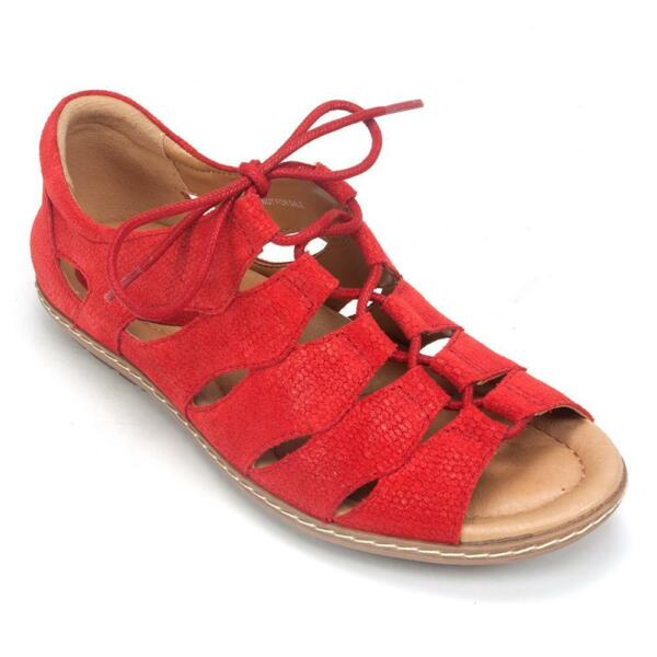 540310d92c42 Women s Earth Plover Ghillie Shoe 7 M Red Nubuck