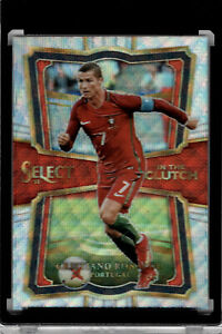 2017-18-PANINI-SELECT-IC-2-CRISTIANO-RONALDO-SILVER-WAVE-PRIZM-IN-THE-CLUTCH
