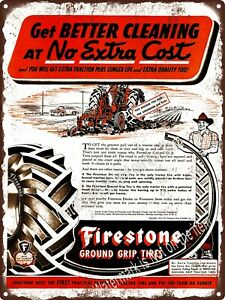 "FIRESTONE TIRES WAR /& PEACE 9/"" x 12/"" Sign"