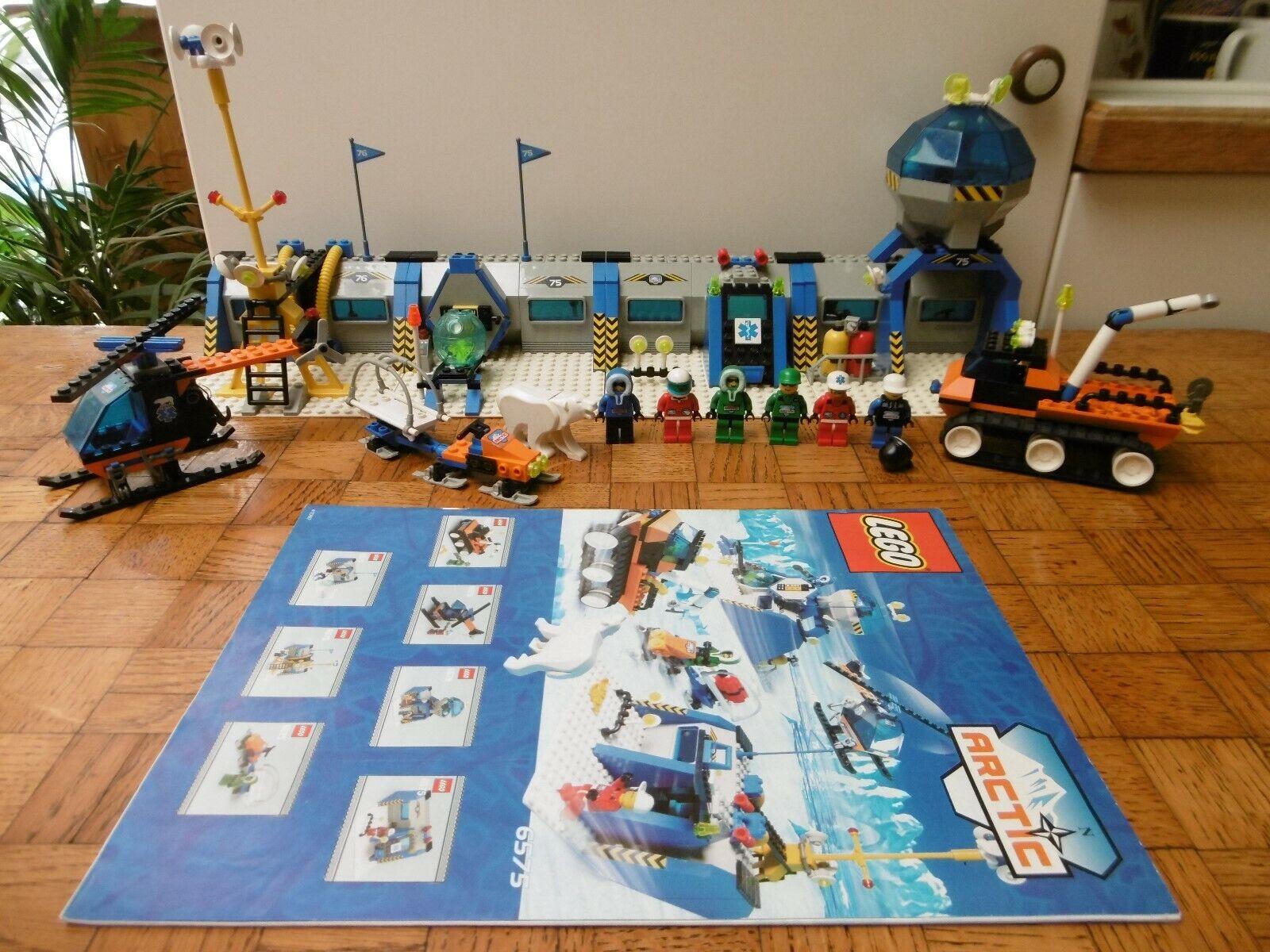 Lego lot town artic 6575 Polar Base 100% complet avec  instructions  en stock