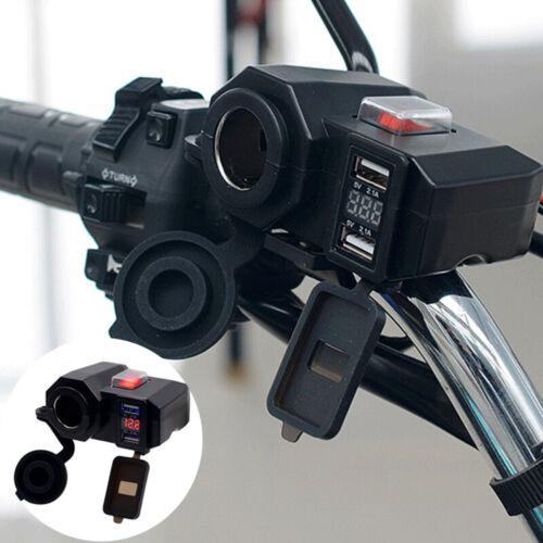 DC 5V//12V Auto Motorrad Dual USB Buchse Zigarettenanzünder Steckdose Ladegerät