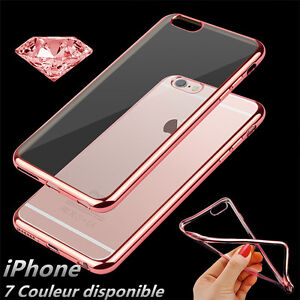 ETUI-COQUE-HOUSSE-POUR-IPHONE-7-6-6s-5-SE-8-X-SILICONE-DESIGN-CONTOUR-BRILLANT
