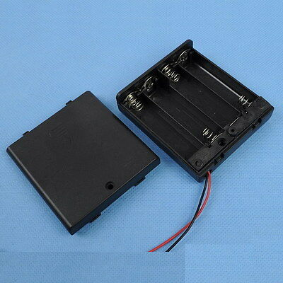 Brand New 4XAA 4xAA 4*AA 6V Battery Holder Box Case Wire Omniseal with Shield HB