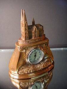rare souvenir building clock cologne cathedral germany dom zu koln art deco ebay. Black Bedroom Furniture Sets. Home Design Ideas