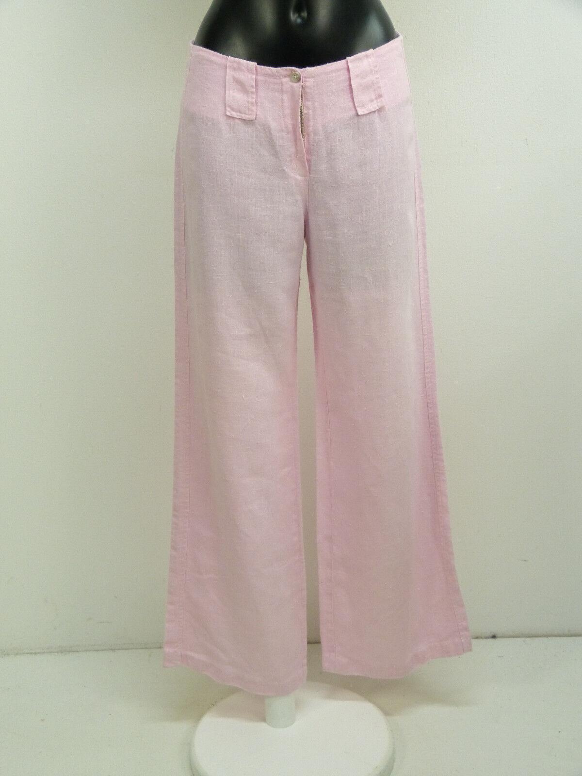 BOTTEGA LEINEN HOSE GR M   pink TON & NEUWERTIG - 100% LEINEN   ( O 9999 R )