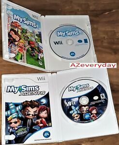 Wii MySims & Agent game LOT/bundle kid Simulation My Sims Social TESTED Complete