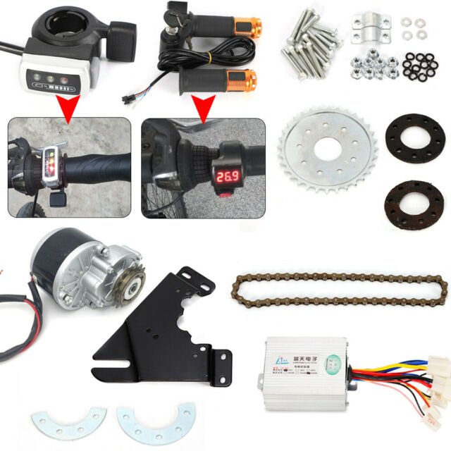 36V Electric Bike Conversion Kit Left Drive Hub Motor Ebike E-Bicycle Kit NEW