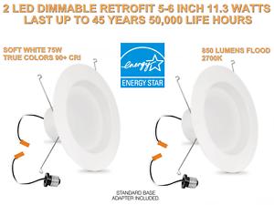 2 Led Retrofit Kit Sustituto de 12 7-15 2cm blancoo Suave 2700k 850Lum -último