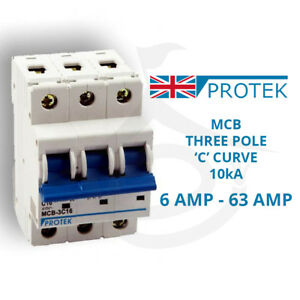 GACIA MCB Circuit Breaker Single Pole Type B,C,6,10,16,20,25,32,40,50,63 A
