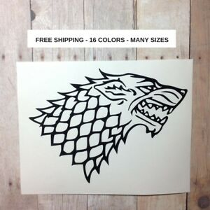 House Stark Game of Thrones Direwolf Sticker Decal Vinyl Laptop Car Window