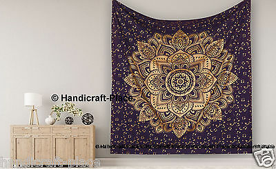 Queen Indian Decor Mandala Tapestry Wall Hanging Hippie Throw Bohemian-Bedspread