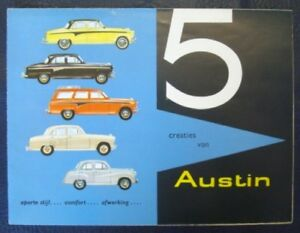 AUSTIN-RANGE-CAR-SALES-BROCHURE-C-1958-DUTCH-TEXT