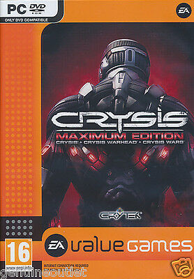 Crysis Maximum Edition Crysis  Crysis Warhead  Crysis Wars Brand New Sealed PC