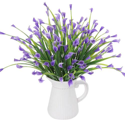 Wedding Plants Calla Flower Pot Fake Flower Pot Plastic Flower Floral Decors HO3