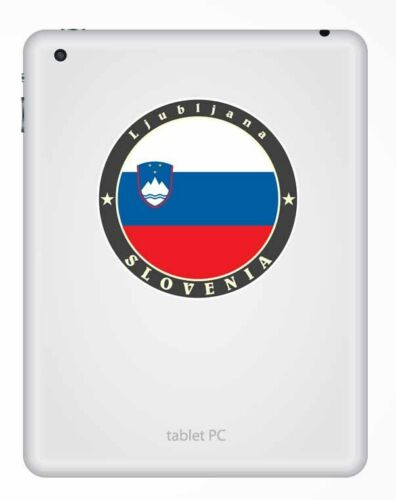 2 x 10cm Slovenia Flag Vinyl Sticker Decal Laptop Car Map Travel Luggage #9525