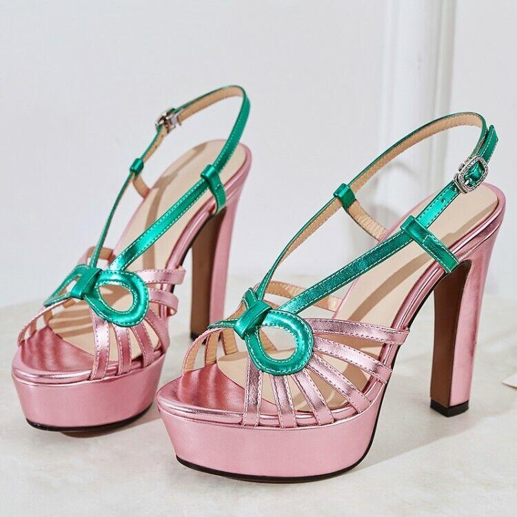 Womens Stylsih Sexy Open Toe Super High Heels Platform shoes Party Club Pumps sz