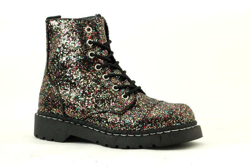 T.U.K Anarchic T2215 Multi Colour Colour Colour Chaunky Glitter Boot 553773
