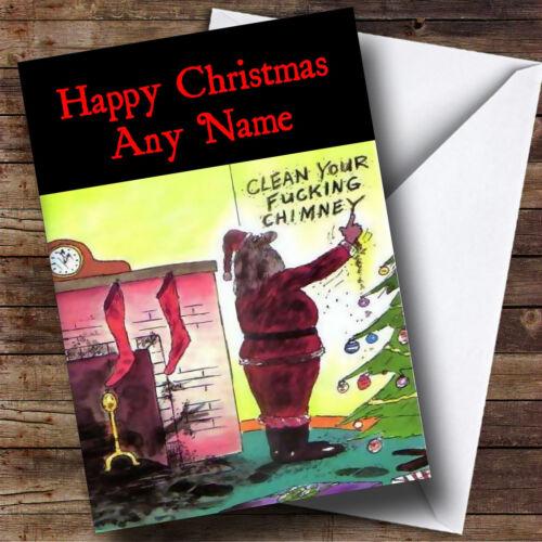 Funny Joke Santa Christmas Greetings Card Personalised