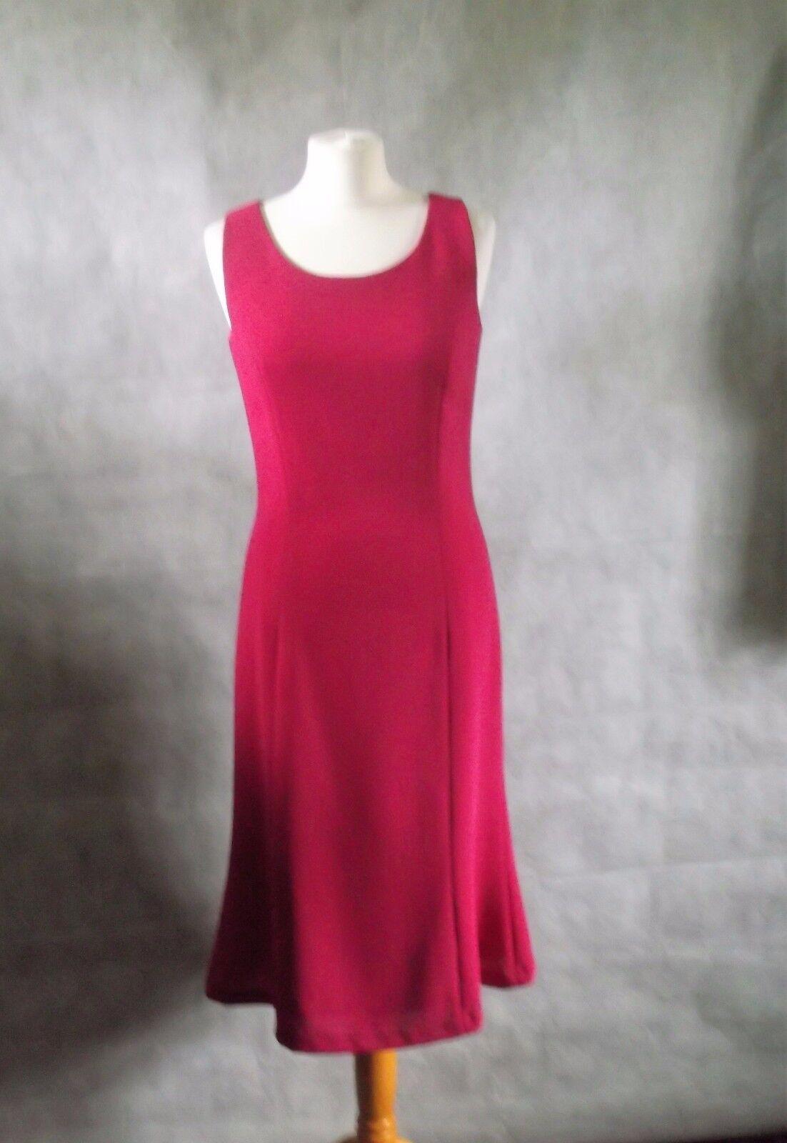 Splendido Rosso Ciliegia rosa Lana HOBBS Abito A Matita Immacolata 12