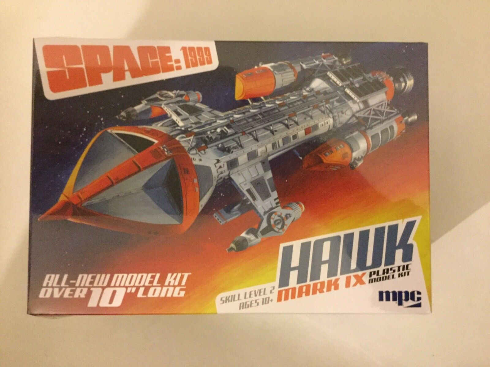 "Space 1999 Hawk Mark IX Plastic Model Kit 10"" Long MPC881"