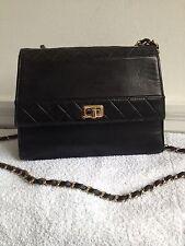Chanel vintage black cross body bag.