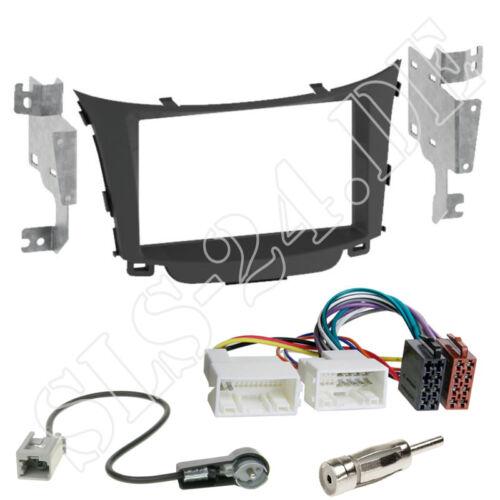 HYUNDAI i30 Double Din voiture panneau autoradio Installation Encadrement Iso Adaptateur ensemble complet