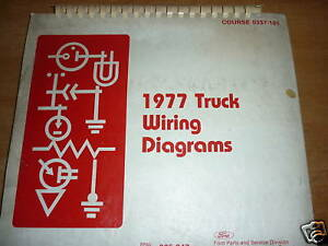 1977 Ford F100 F150 F250 F350 Oversized Wiring Diagrams Manual Sheets Set Ebay