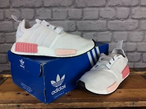 ADIDAS-LADIES-UK-5-EU-38-WHITE-PINK-NMD-R1-BOOST-TRAINERS-RRP-110