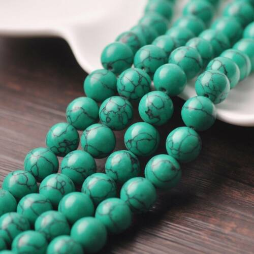 Natural Green Turquoise Stone Gemstone Round Loose Spacer Beads 4 6 8 10 12mm