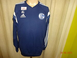 FC-Schalke-04-Original-Adidas-Spieler-Sweatshirt-Pullover-2014-15-034-A-L-034-Gr-M-TOP