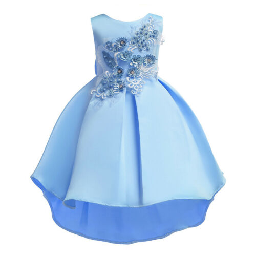 Girls Bridesmaid Dress Kids Flower Party Birthday Wedding Dresses Princess 2-10Y