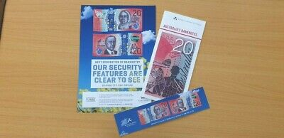 $50 2018 RBA Security Info Sheet /& Bookmark /'responsibilty/' spelling mistake