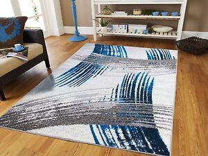 Luxury Modern Rugs 8x11 Large Rugs 8x10 Blue Carpet 5x8