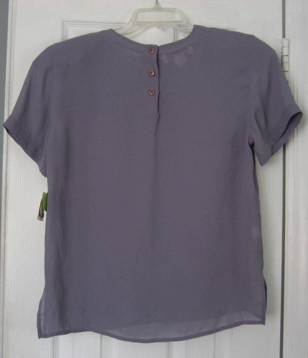 Lot 2 1990s Unworn Short Sleeve Shell Tops Royal … - image 7