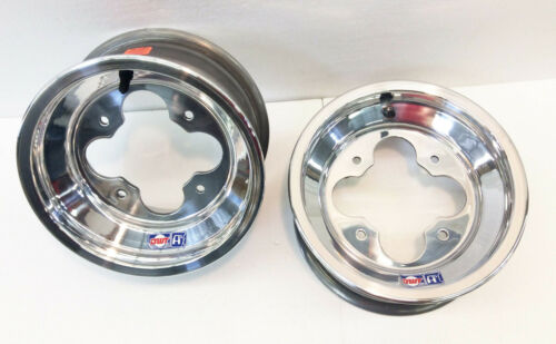 "DWT A5 10/"" 10x5 3+2 Front Aluminum Wheels Rims Polished YFZ450 Banshee Raptor"