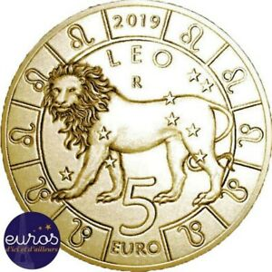 Piece-de-5-euros-commemorative-SAINT-MARIN-2019-Horoscope-Lion-5-12