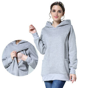 081304831552c Image is loading Winter-Maternity-Clothes-Breastfeeding-Tops -Hoodies-Sweat-Women-