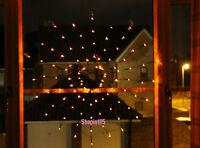 HALLOWEEN LIGHT UP SPIDERS COBWEB ORANGE LED LIGHTS PARTY WALL WINDOW PROP DECOR